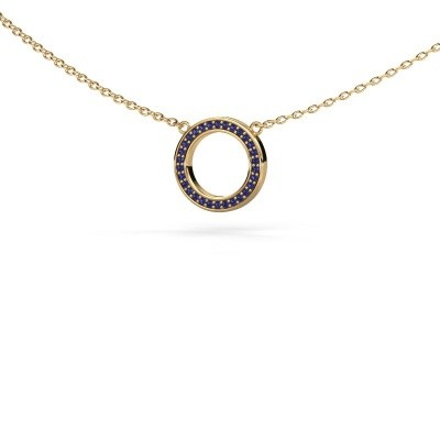 Picture of Pendant Round 1 585 gold sapphire 0.8 mm