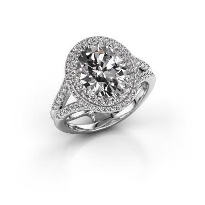 Foto van Verlovingsring Elvie 585 witgoud diamant 3.295 crt