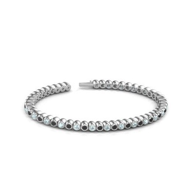 Foto van Tennisarmband Patrica 585 witgoud zwarte diamant 3.025 crt