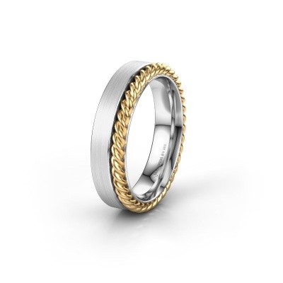 Trouwring WH2017L 585 witgoud ±5x2 mm