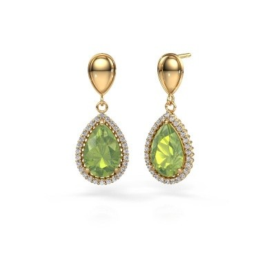 Picture of Drop earrings Cheree 1 585 gold peridot 12x8 mm