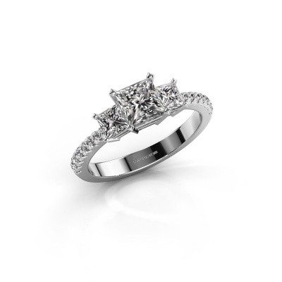 Foto van Verlovingsring Dorla 585 witgoud diamant 1.449 crt