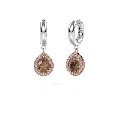 Picture of Drop earrings Barbar 1 585 rose gold brown diamond 2.065 crt