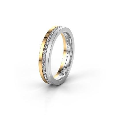 Trouwring WH0203L14BPM 585 goud diamant 0.44 crt ±4x2 mm