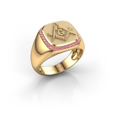 Foto van Heren ring Johan 585 goud roze saffier 1.2 mm