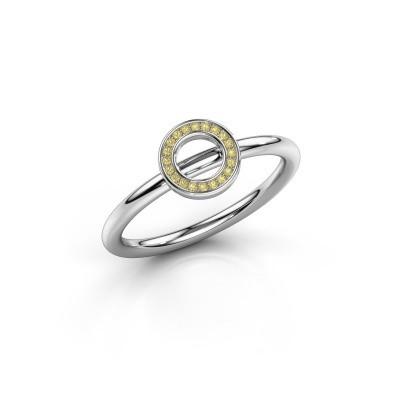 Foto van Ring Shape round small 925 zilver gele saffier 0.8 mm