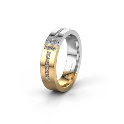 Trouwring WH1106L15AP20 585 goud diamant ±5x1.7 mm