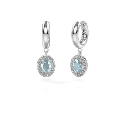 Picture of Drop earrings Annett 375 white gold aquamarine 7x5 mm