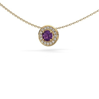 Picture of Pendant Agaat 585 gold amethyst 5 mm