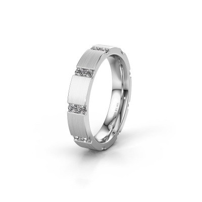 Huwelijksring WH2132L14BM 585 witgoud diamant ±4x2.2 mm