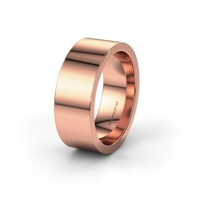 Trouwring WH0100M18BP 585 rosé goud ±8x2 mm