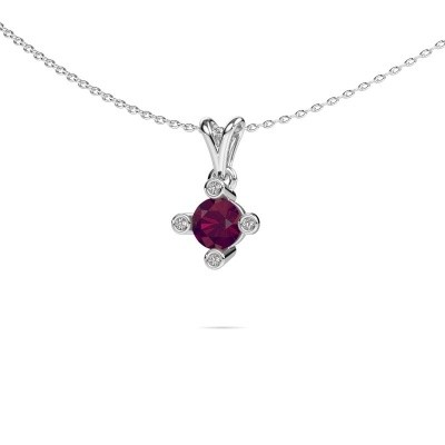 Picture of Pendant Cornelia Round 375 white gold rhodolite 5.5 mm