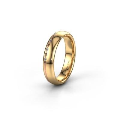 Vriendschapsring WH2144L34A 585 goud bruine diamant ±4x1.7 mm