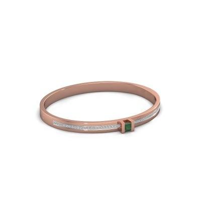 Foto van Armband Desire 585 rosé goud smaragd 4 mm