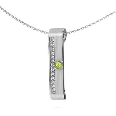 Bild von Halskette Vicki 950 Platin Peridot 3 mm