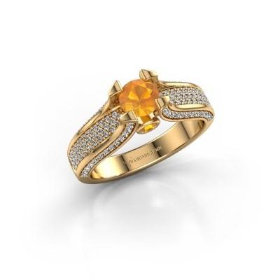 Foto van Verlovingsring Jeanne 2 750 goud citrien 5 mm