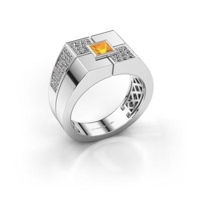 Foto van Heren ring Rogier 925 zilver citrien 4 mm