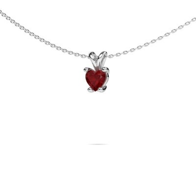 Picture of Necklace Sam Heart 585 white gold ruby 5 mm