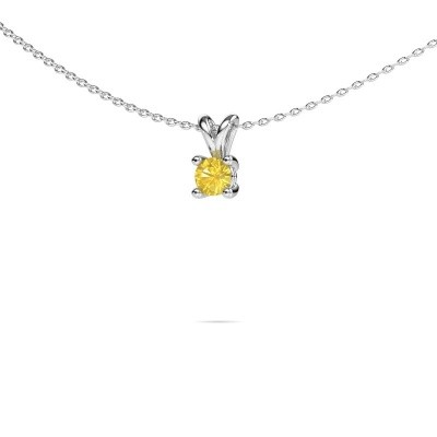 Picture of Necklace Sam round 950 platinum yellow sapphire 4.2 mm