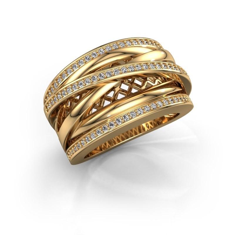 Ring Tabita 585 goud diamant 0.405 crt