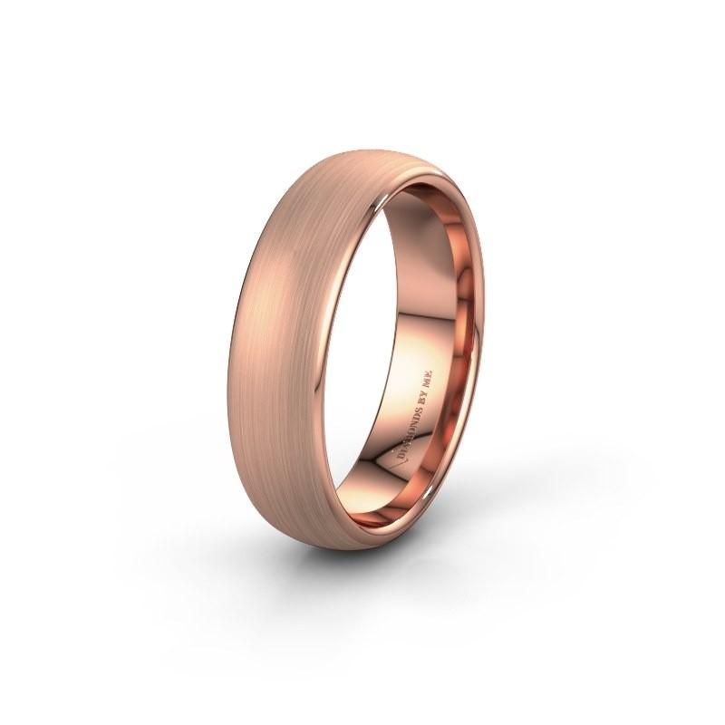 Wedding ring WH0100M36BM 585 rose gold ±6x2 mm