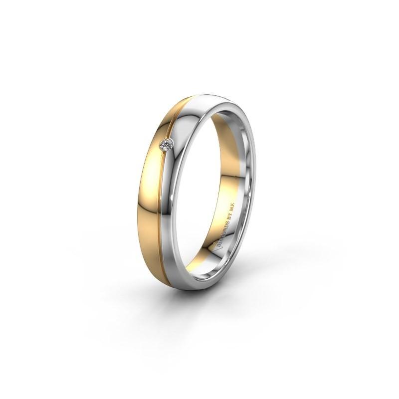 Trouwring WH0901L24AP 585 goud diamant ±4x1.7 mm