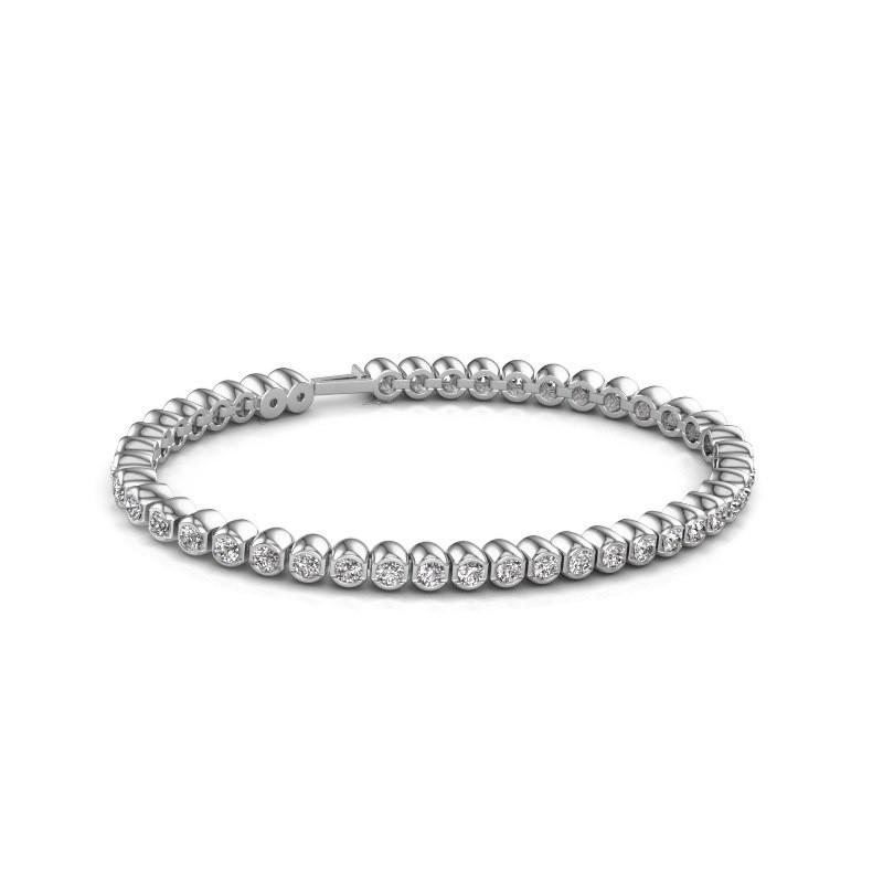 Tennisarmband Asley 585 witgoud diamant 4.40 crt