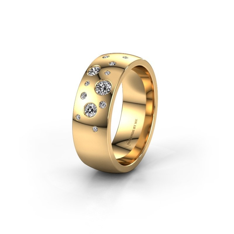 Trouwring WH0141L26BP 585 goud diamant ±6x2 mm