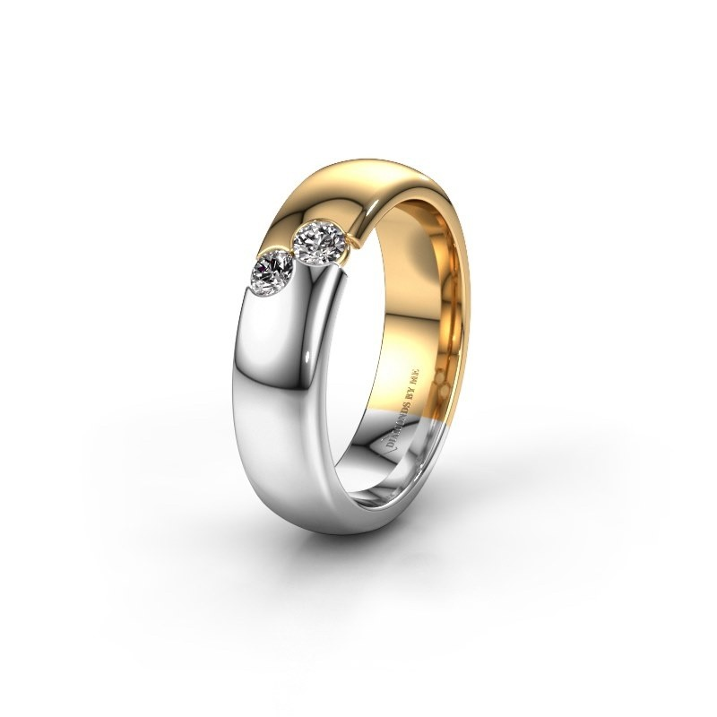 Trouwring WH1003L26C 585 goud diamant ±6x2.2 mm