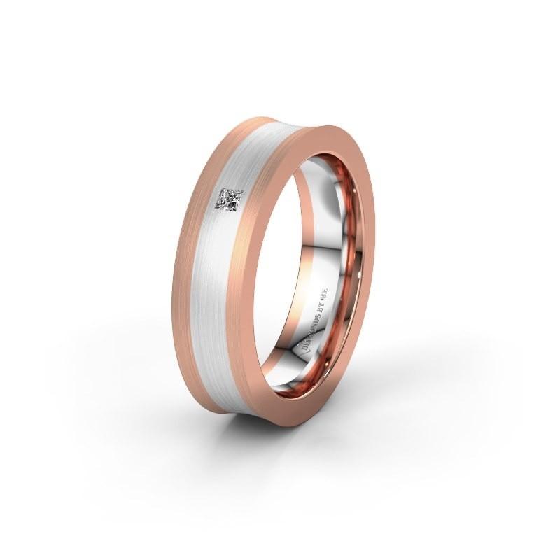Trouwring WH2238L2 585 rosé goud diamant ±6x2.2 mm