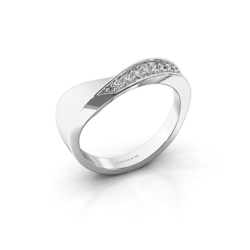 Ring Lynn 585 witgoud diamant 0.216 crt