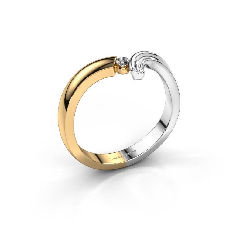 Ring Tish 585 goud diamant 0.045 crt