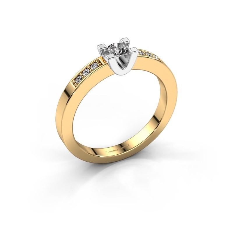 Verlovingsring Sara 2 585 goud diamant 0.26 crt