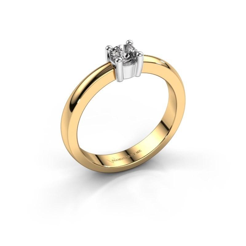 Verlovingsring Florentina round 585 goud diamant 0.25 crt