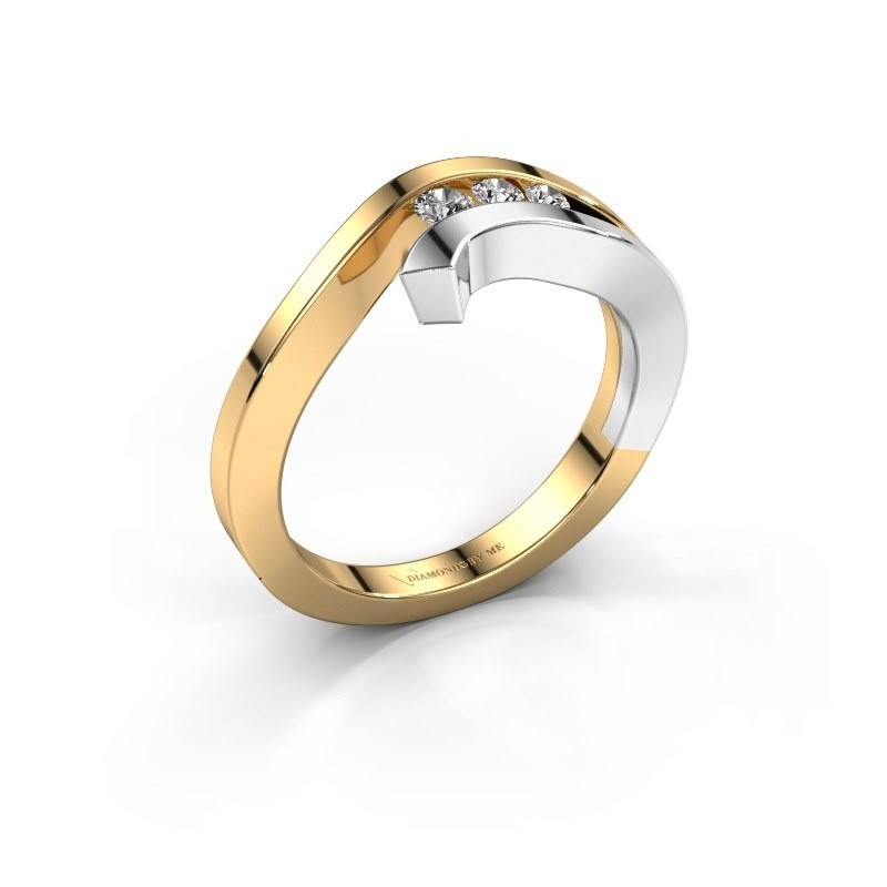 Ring Emily 585 goud diamant 0.195 crt