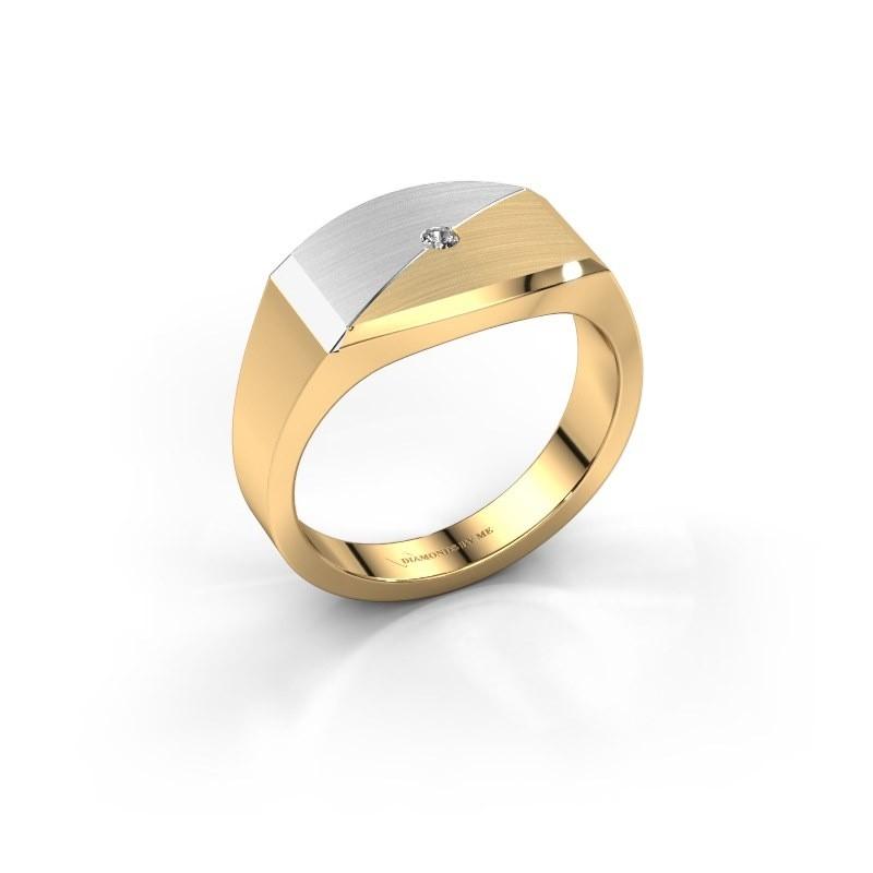 Heren ring Joe 5 585 goud diamant 0.03 crt