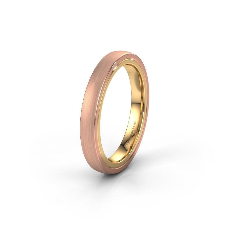 Trouwring WH2216L26DM 585 rosé goud ±4x2.2 mm