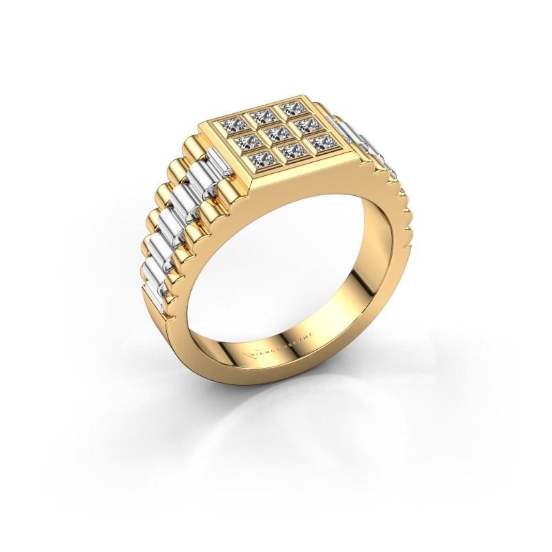 Rolex stijl ring Chavez 585 goud diamant 0.45 crt