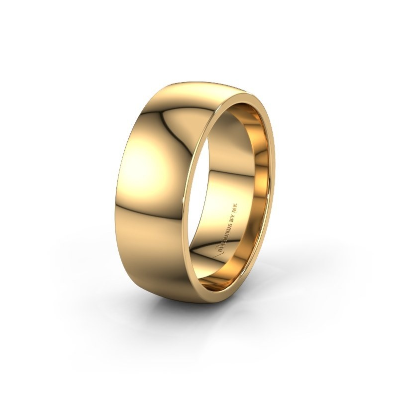 Trouwring WH0100M28BP 585 goud ±8x2 mm
