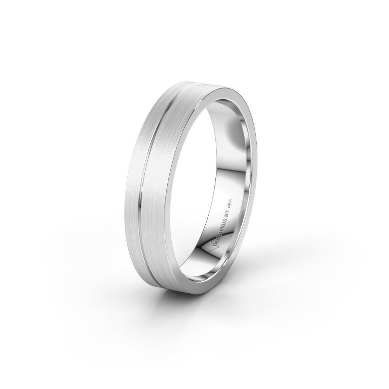 Trouwring WH0160M14XM 375 witgoud ±4x1.5 mm