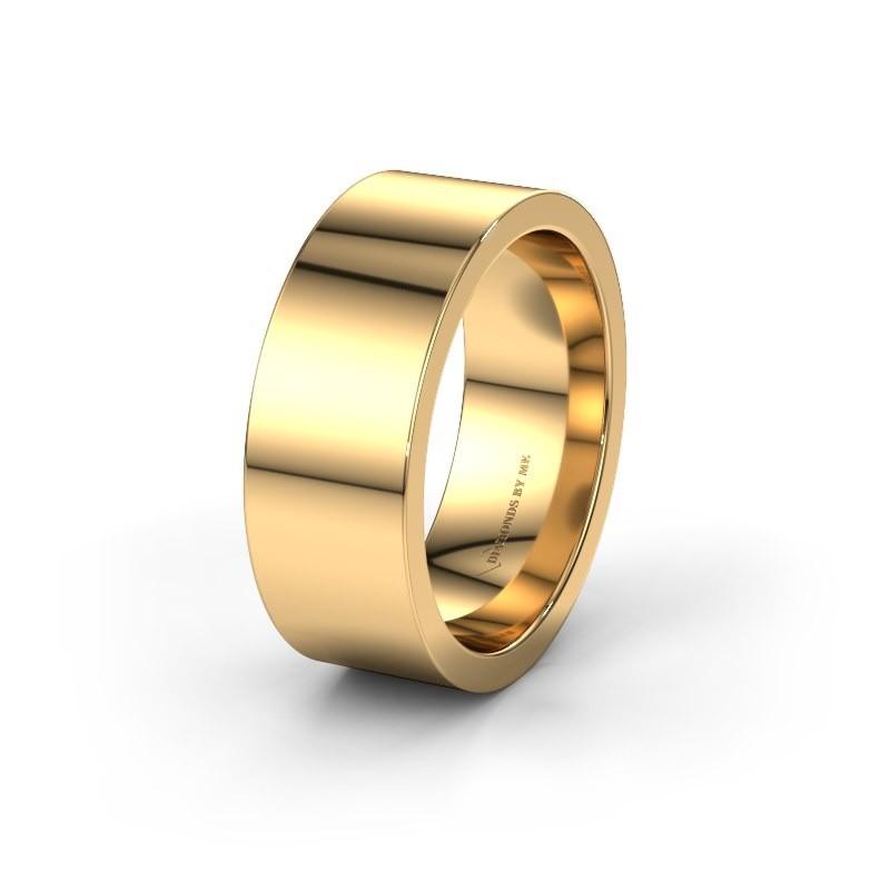 Trouwring WH0100M18BP 585 goud ±8x2 mm