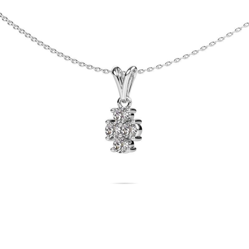 Ketting Richelle 585 witgoud diamant 0.40 crt