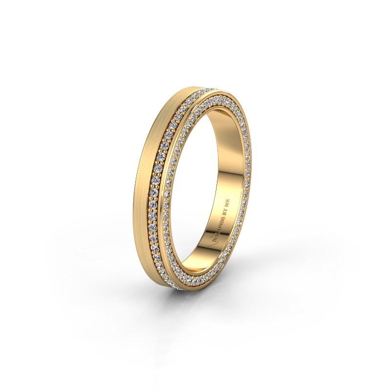 Trouwring WH2214L15BM 375 goud lab created 0.55 crt ±5x2 mm