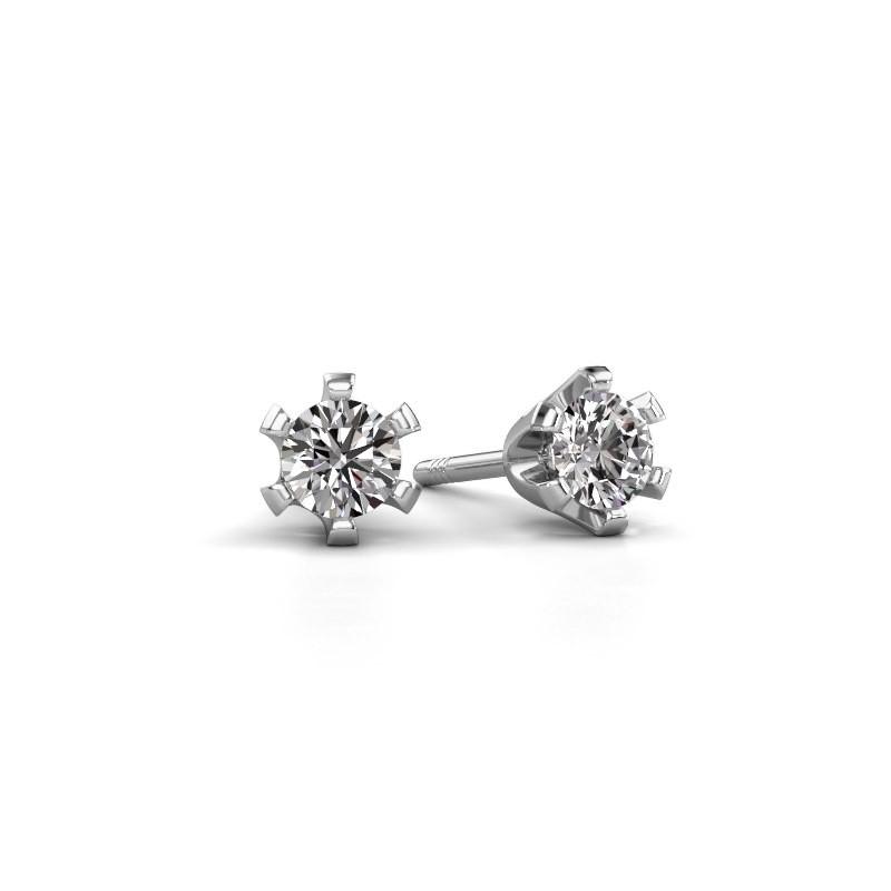 Oorstekers Shana 585 witgoud diamant 0.50 crt