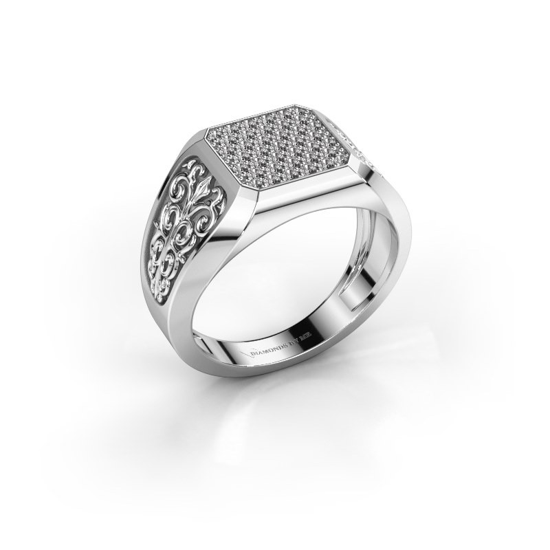 Heren ring Amir 585 witgoud diamant 0.468 crt