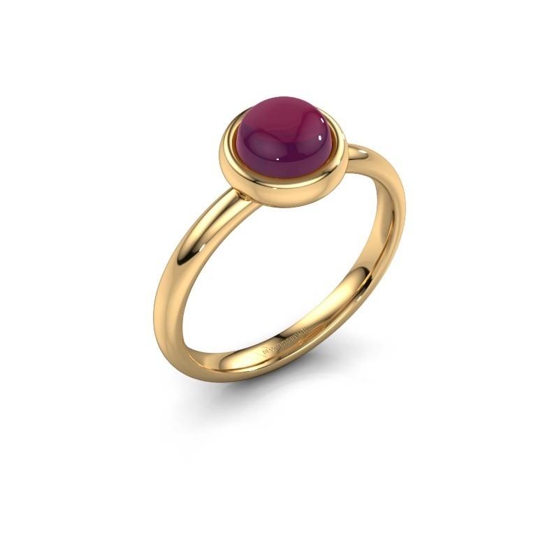 Ring Blossom 585 goud rhodoliet 6 mm