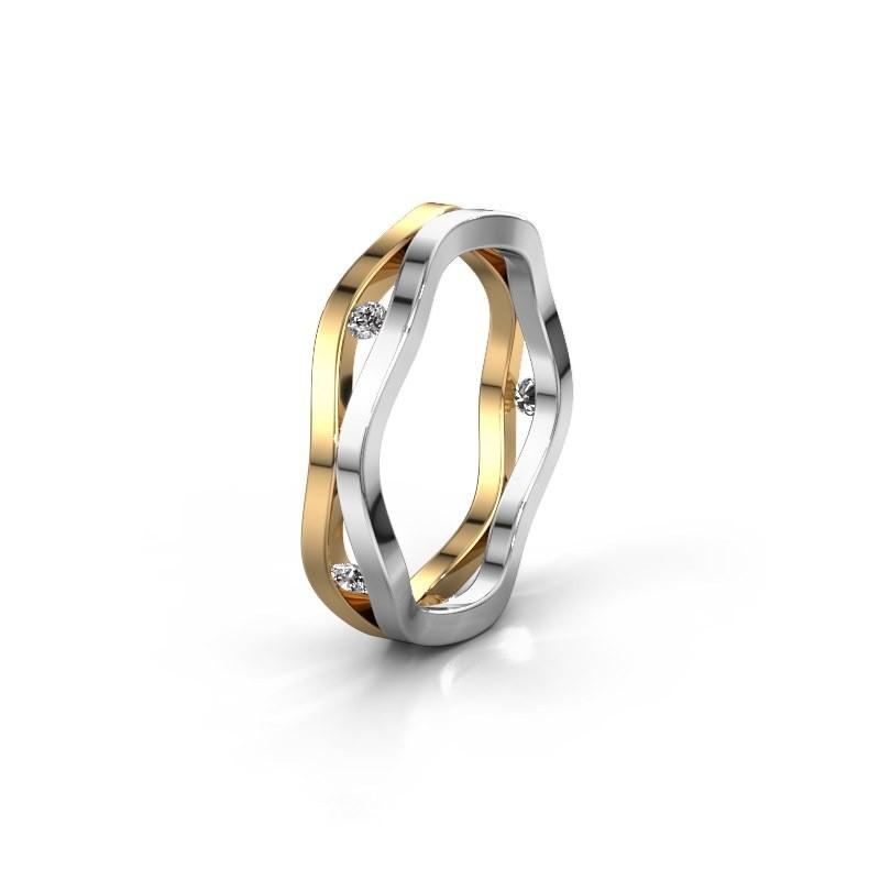 Trouwring WH2122L 585 goud diamant ±5x1.8 mm