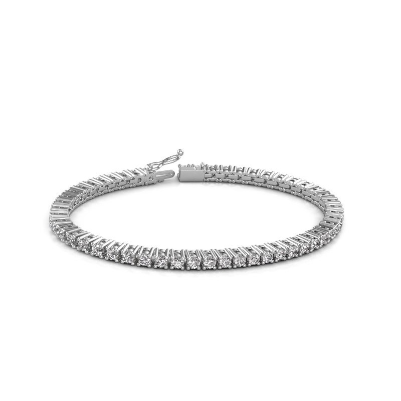 Tennisarmband Petra 585 witgoud diamant 5.10 crt