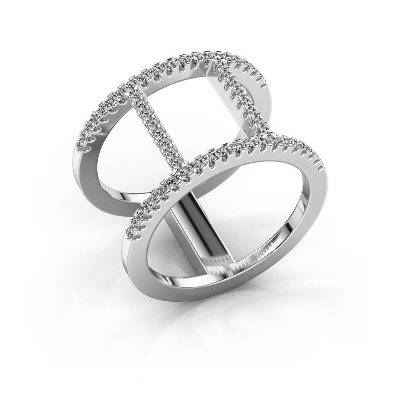 Ring Amee 585 witgoud diamant 0.407 crt