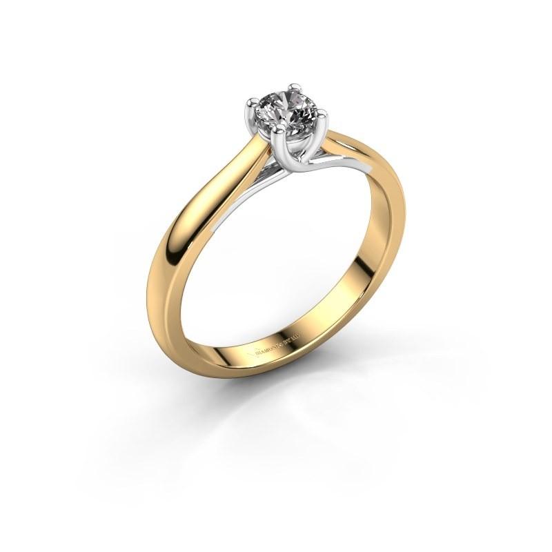 Verlovingsring Mia 1 585 goud diamant 0.25 crt